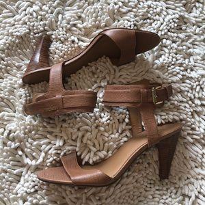 NWOT Nine West Nude Leather Sandals